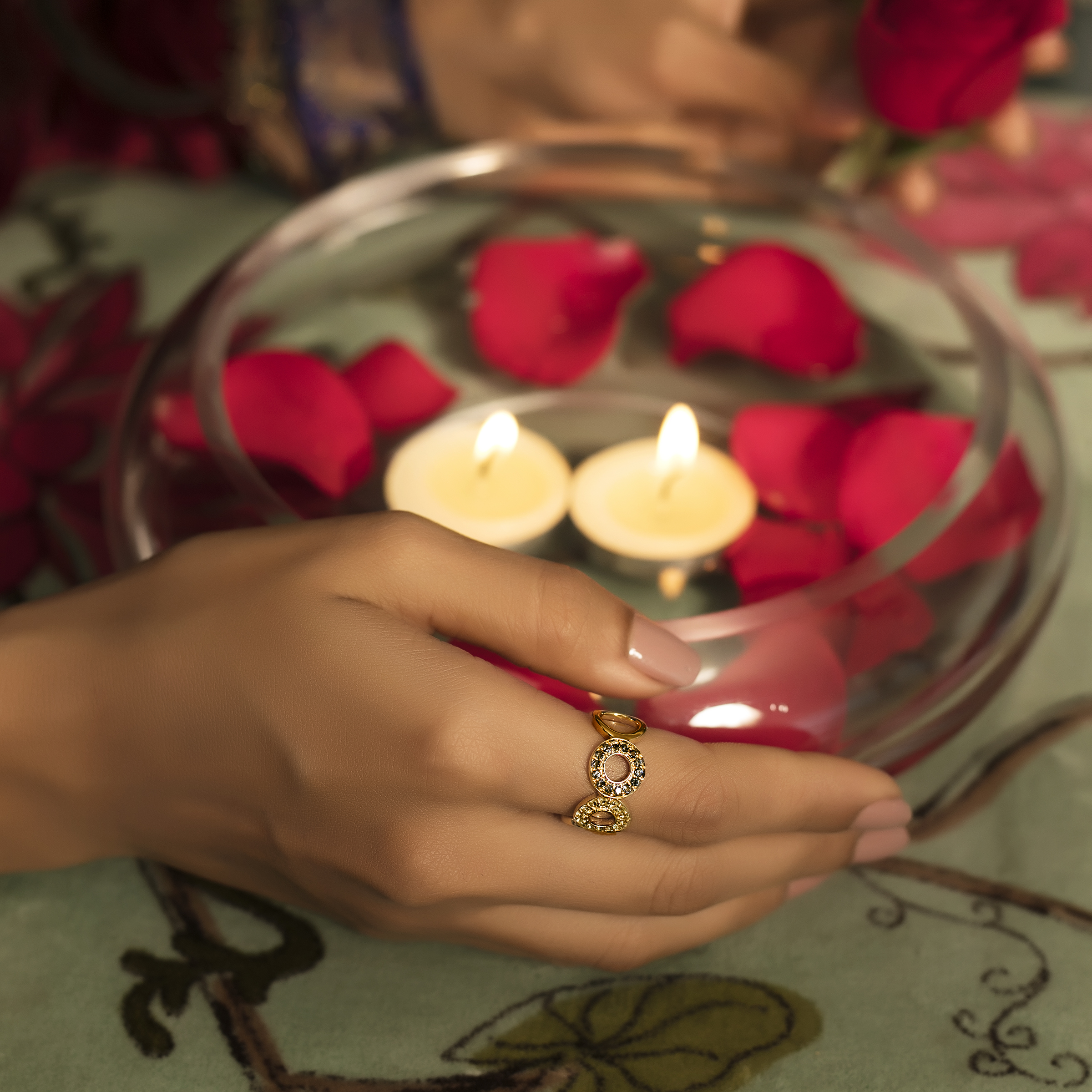 Gemstone Ring Melorra.com