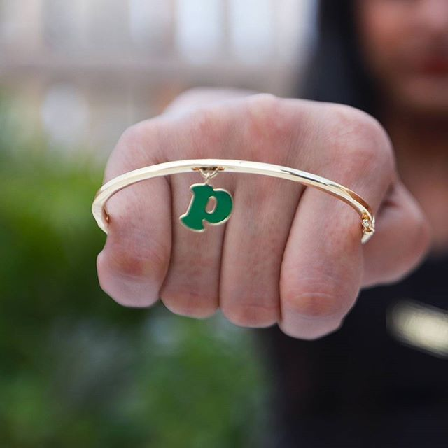 gold bangle gold jewellery enamel jewellery just initials