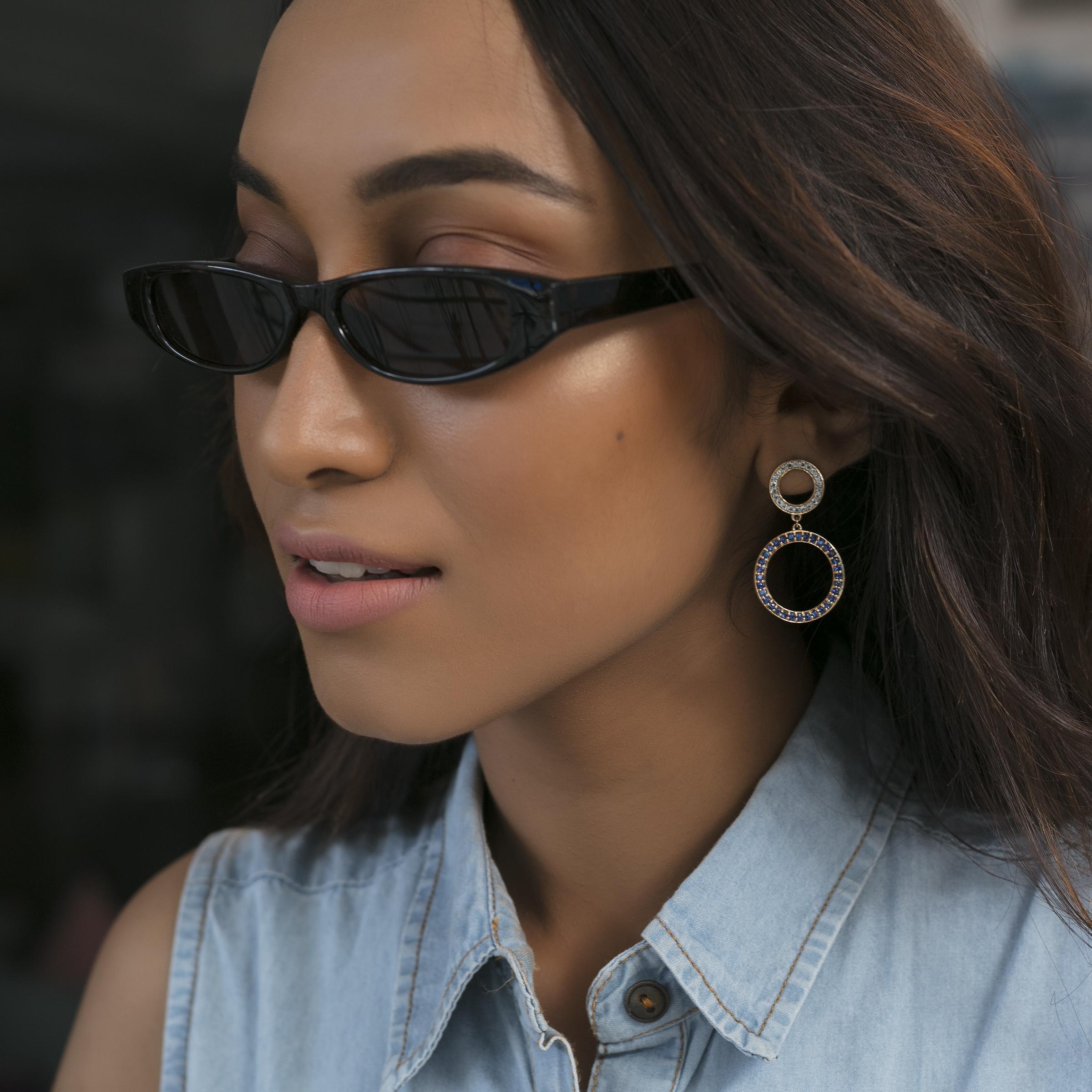 Gemstone Dangler Earrings gemstone jewellery