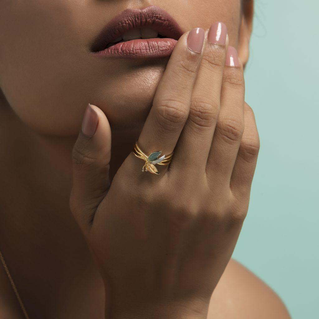gold ring gold jewellery enamel jewellery festive
