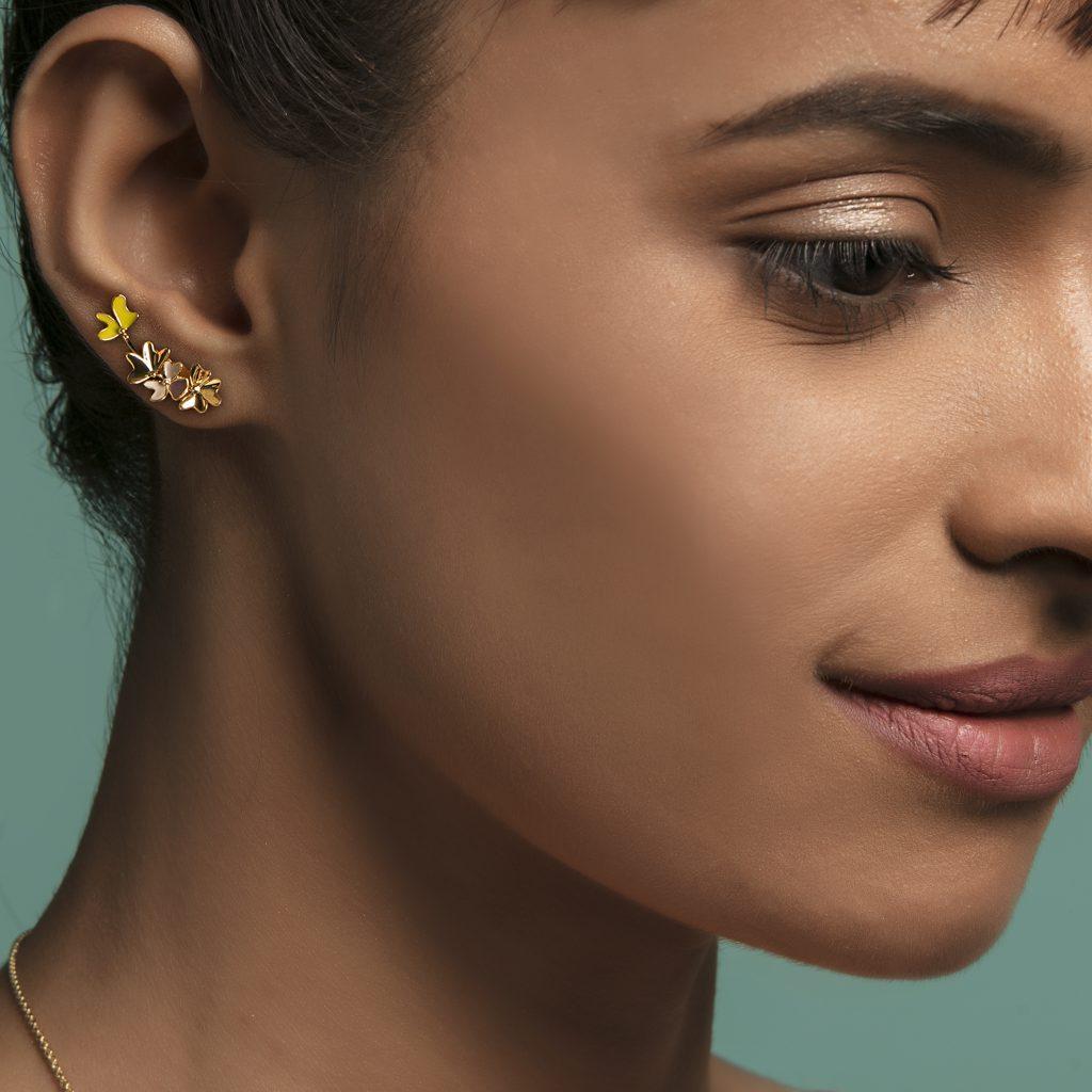 gold jewellery gold earrings enamel jewellery festive