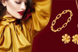 gold jewellery bow fashion