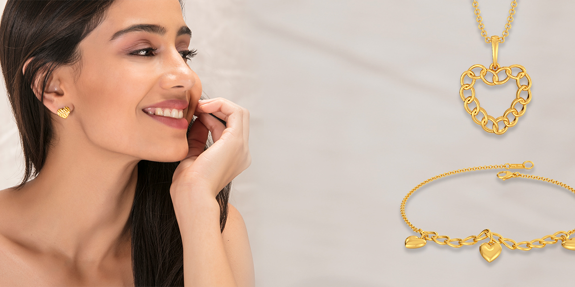 For the Trendy Heart: Jewellery in Gold! #Valentine #Fridayrefresh