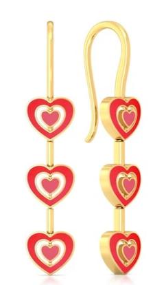 gold earrings gold danglers