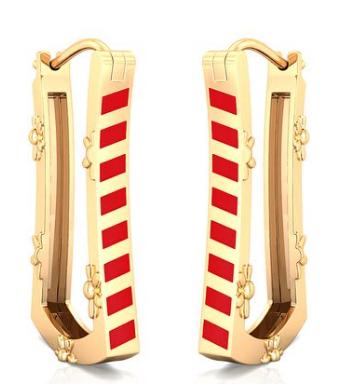 Gold jewellery enamel jewellery