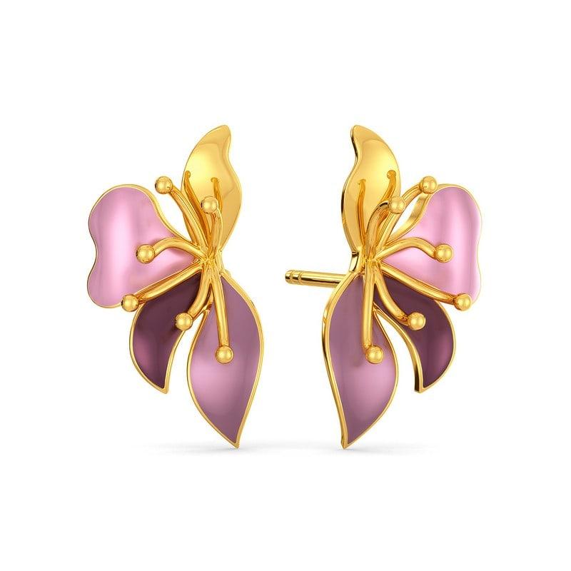 gold jewellery gold earrings gold stud