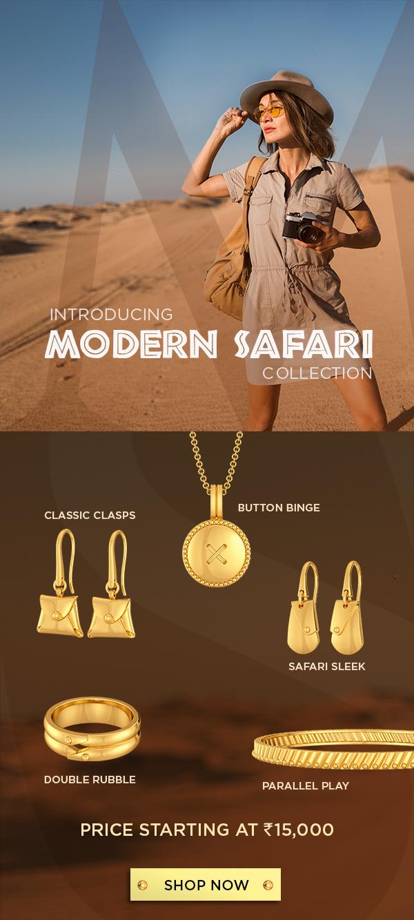 modern safari gold jewellery