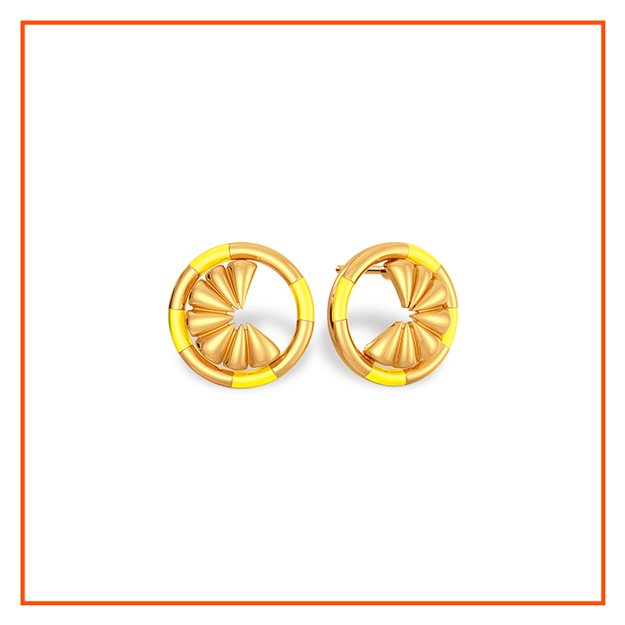 enamel jewellery gold jewellery gold earrings trends