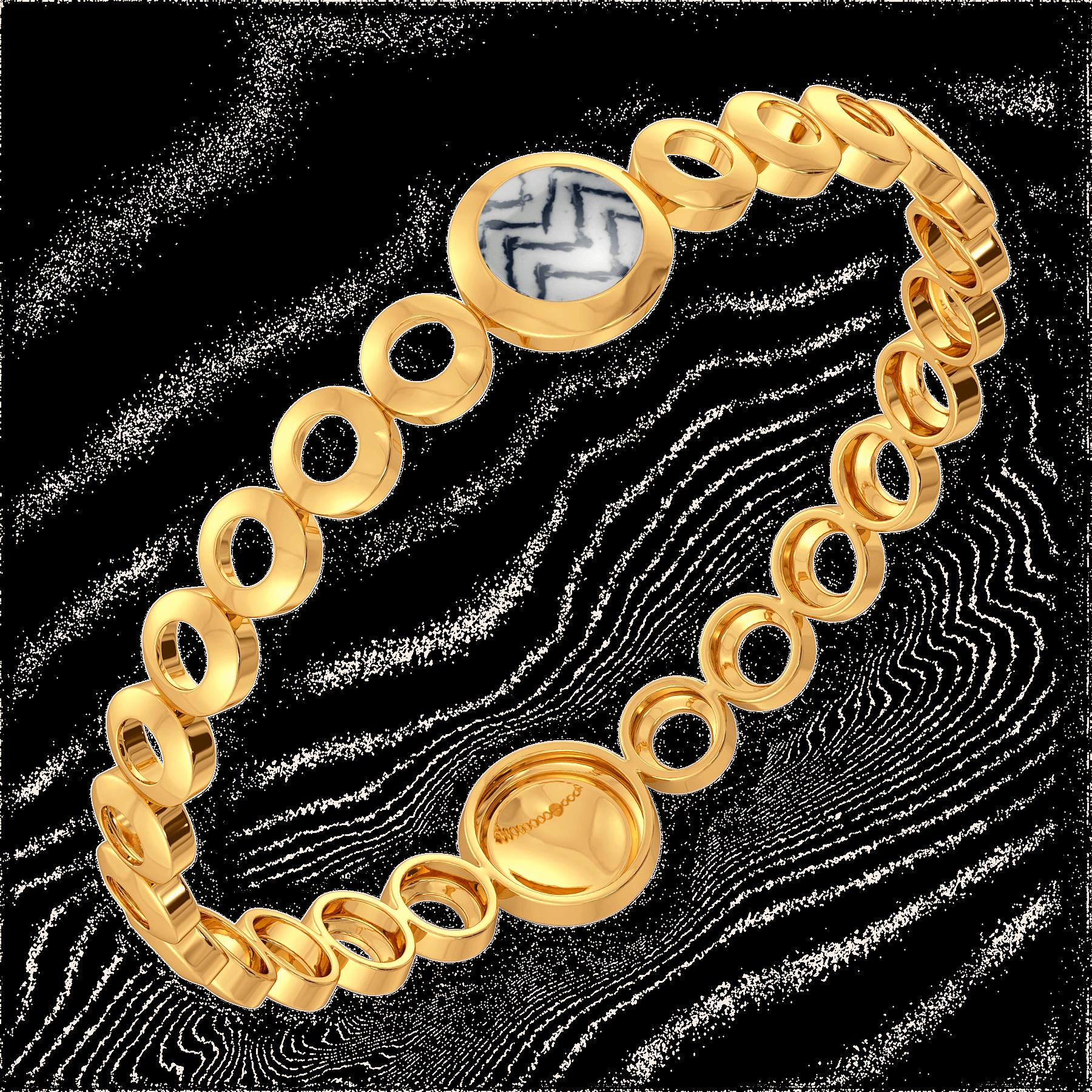 Tie & Dye Gold Bangle