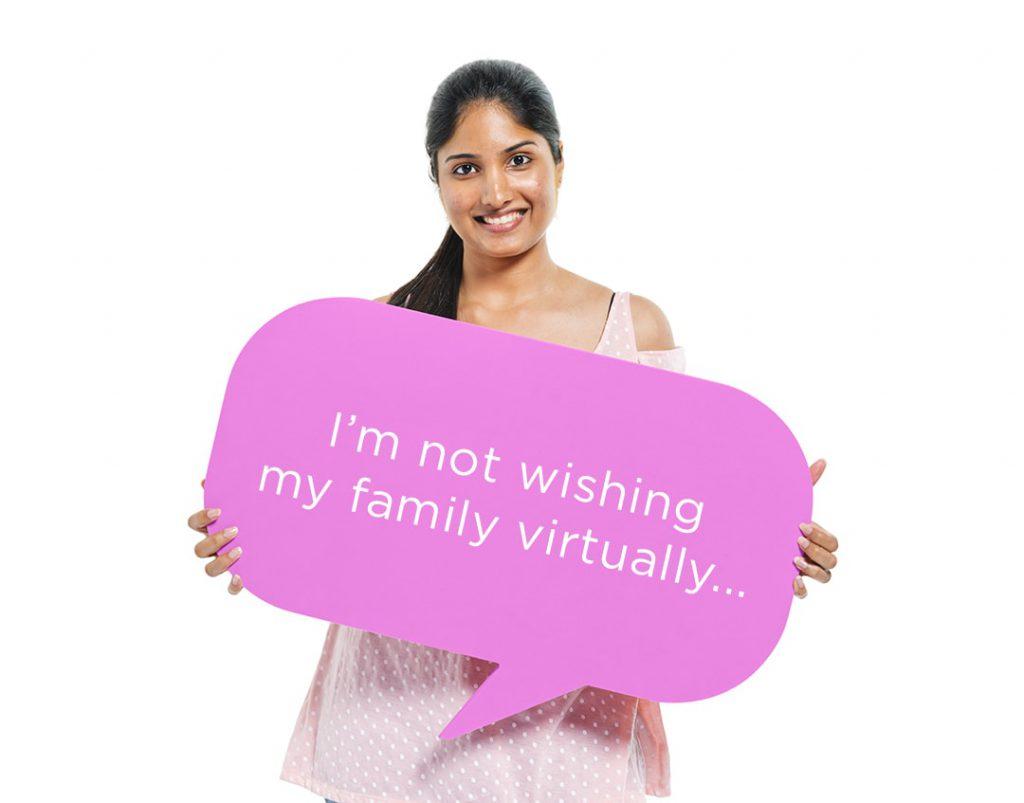not wishing family virtually diwali