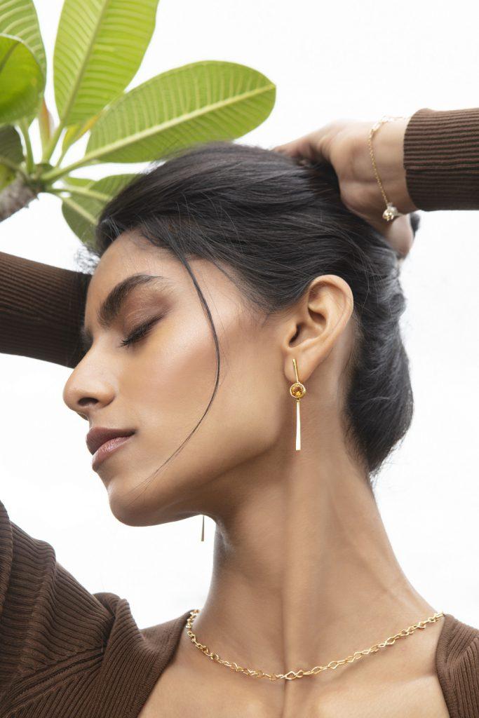 Gold Drop Earring Melorra