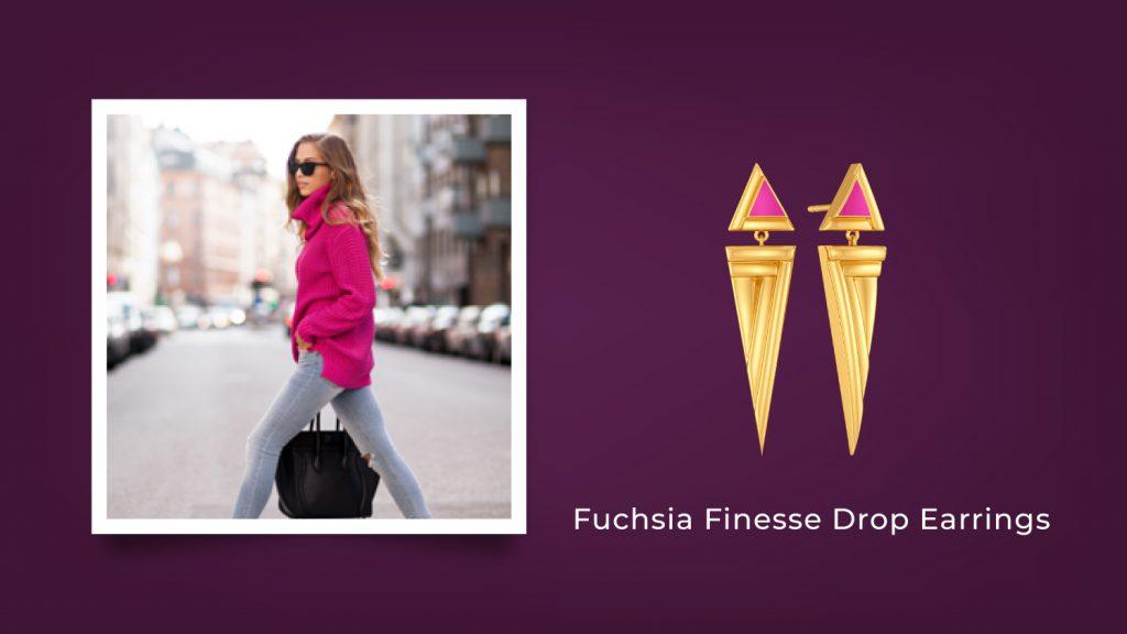 Fuchsia Finesse Drop Earrings