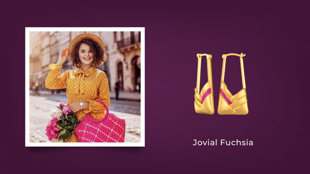 Jovial Fuchsia Earrings