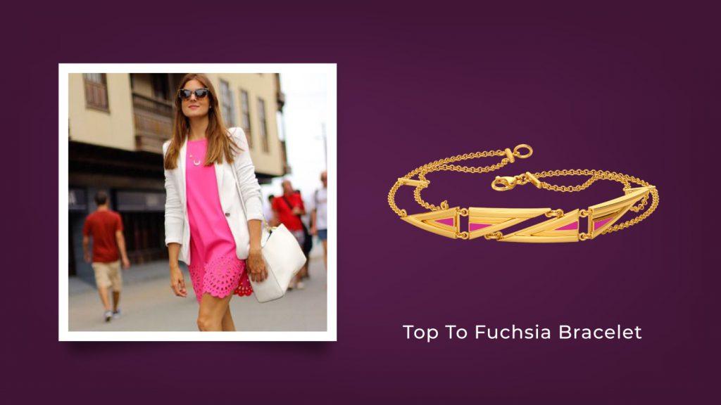 Top to Fuchsia Bracelet