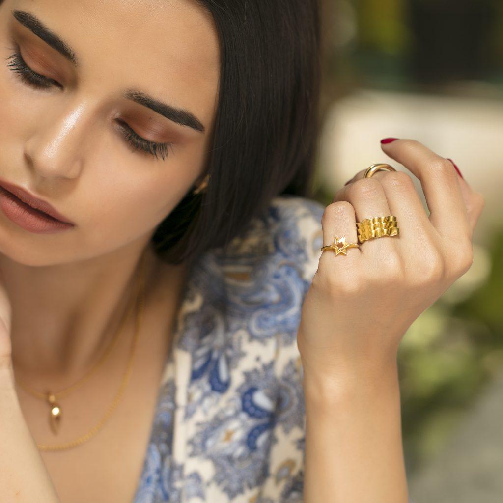 Cosmos inspired fine gold jewellery
