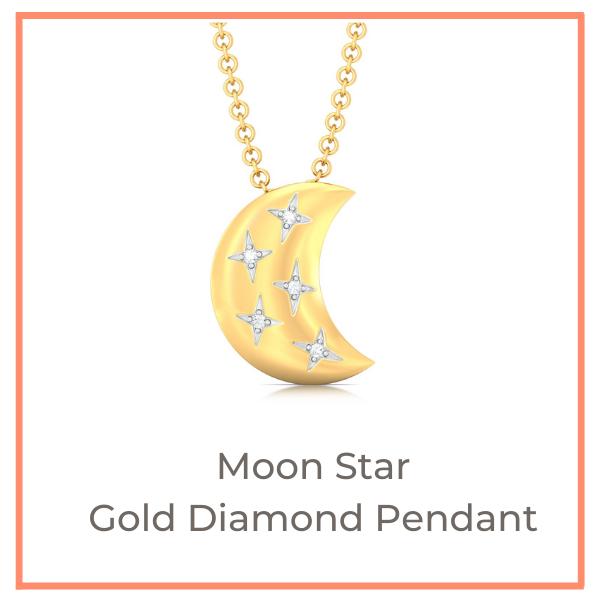 Crescent Moon fine gold jewellery