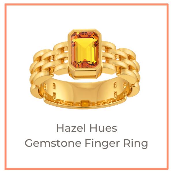 Hazel Hues Gemstone Finger Ring Earth Tones