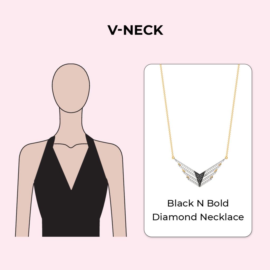 Necklaces for V necklines