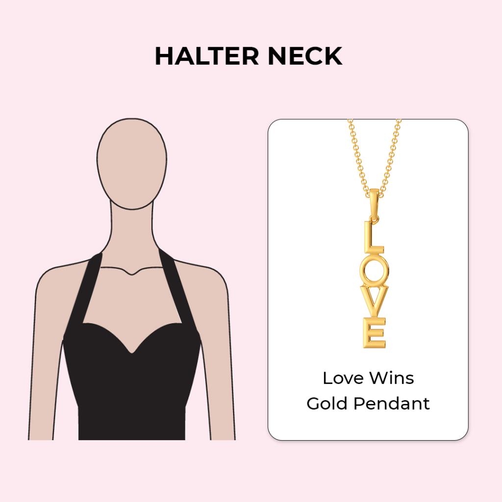 Melorra Necklaces for halter neckline
