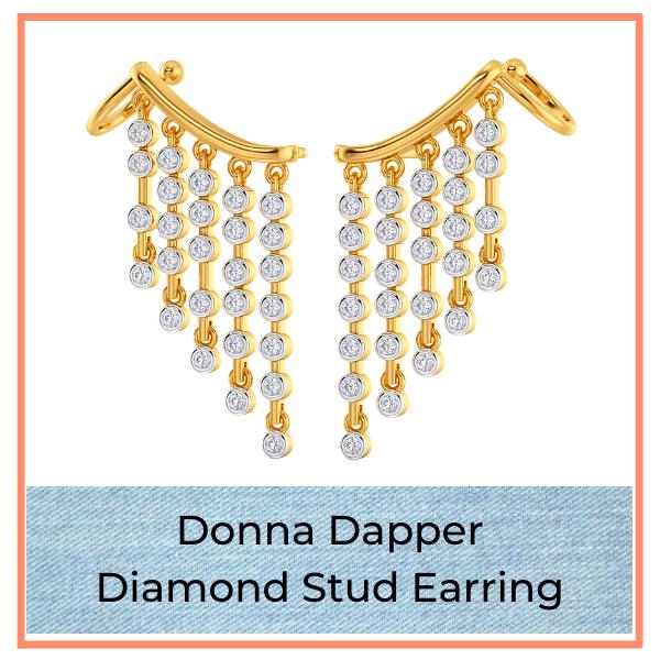 Big Blue Jean Trend Diamond Earring