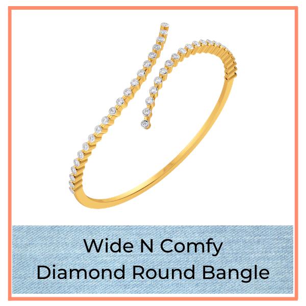 Big Blue Jean Trend Diamond Bangle