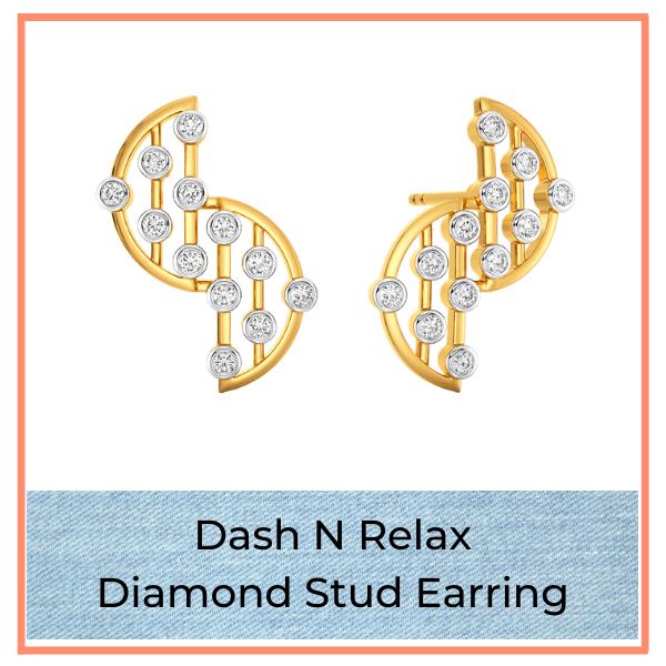Big Blue Jean Trend Diamond Studs