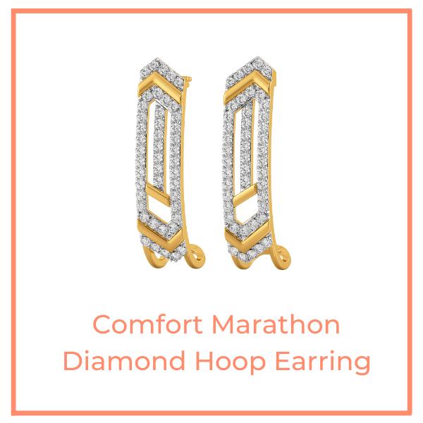 Comfort Marathon Diamond Hoops