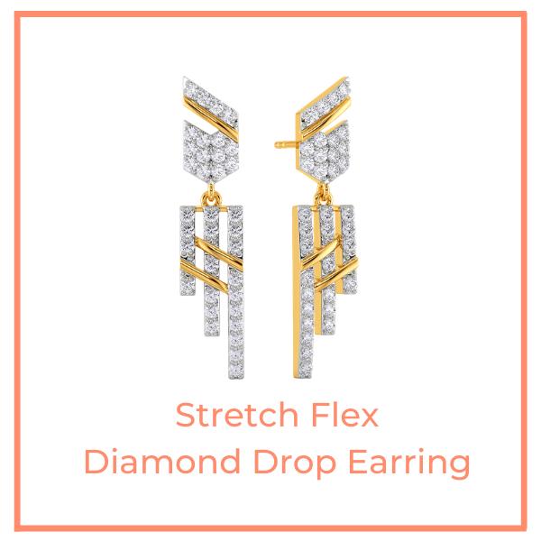 Stretch Flex Diamond Drop Earrings