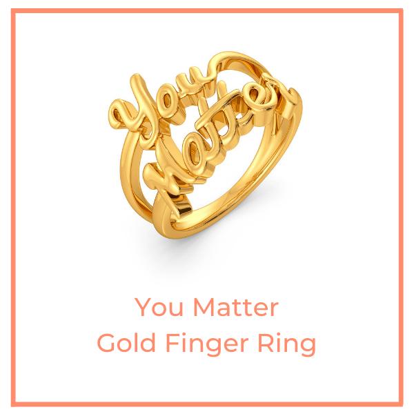 You Matter Gold Finger Ring