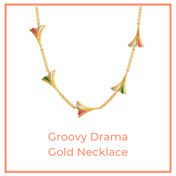Groovy Drama Gold Necklace