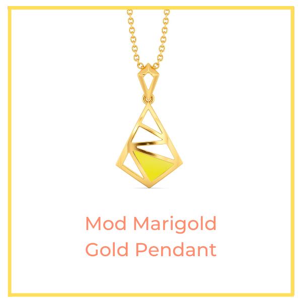 Mod Marigold Gold Pendant