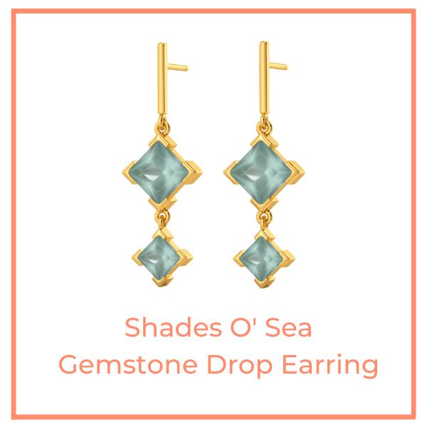 shades o' sea gemstone drop earring
