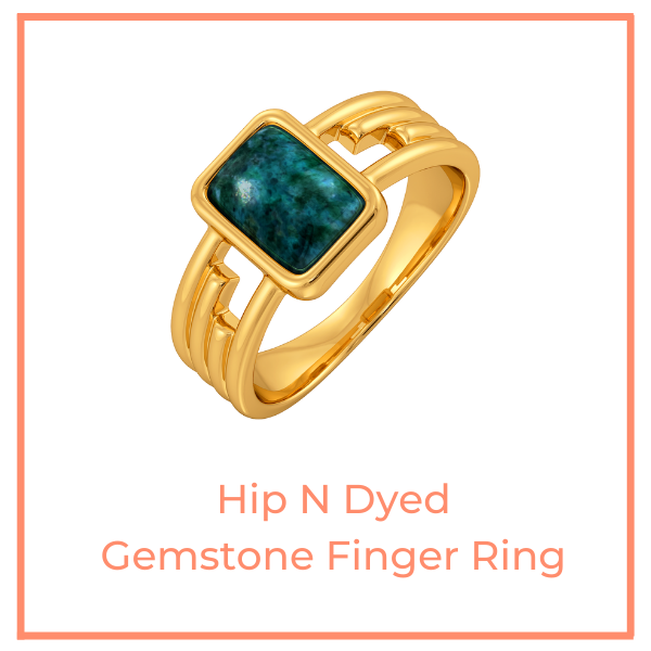 Hip N Dyed Gemstone Finger Ring