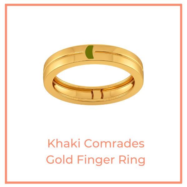 Khaki Comrades Gold Finger Ring