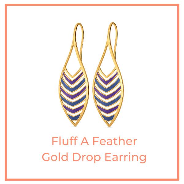 Fluff A Feather Enamel Earring