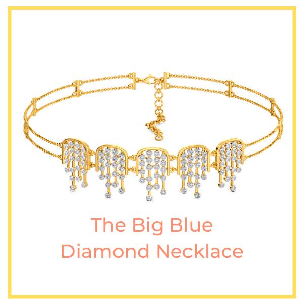 Big Blue Diamond Necklace.