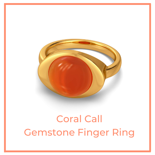 Coral Call Gemstone Ring
