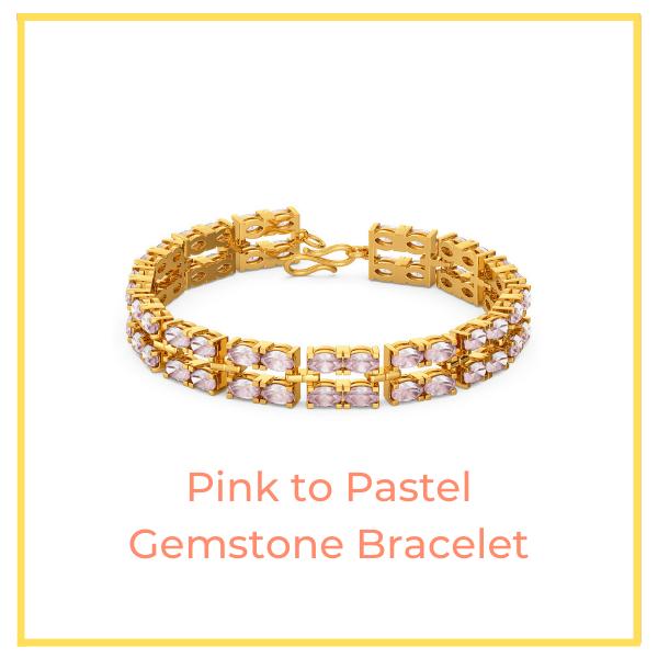 Pink to Pastel Gemstone Bracelet.