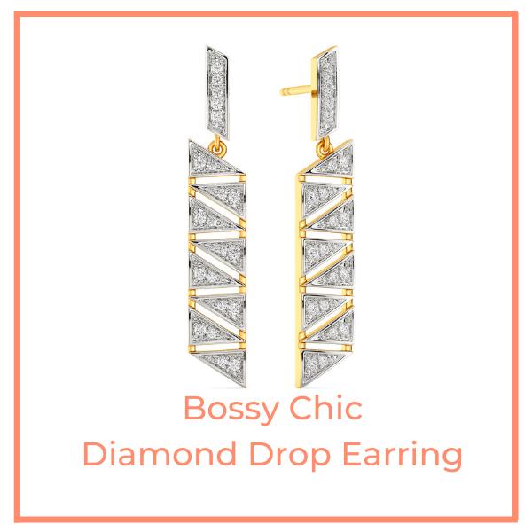 Bossy Chic Diamond Earrings