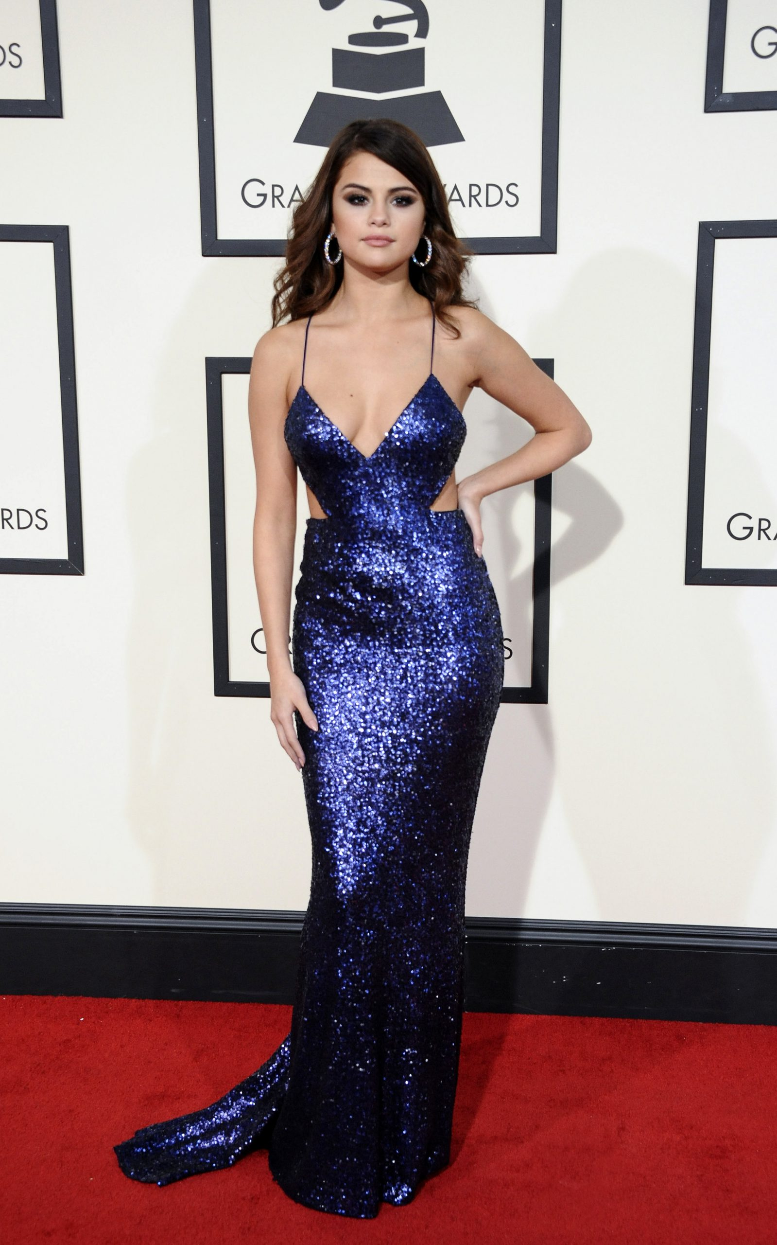Sel at Grammy's