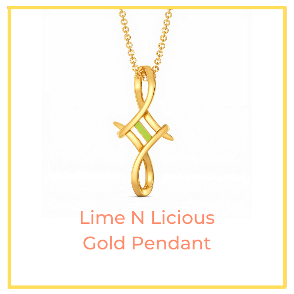 Lime N Licious Gold Pendant.