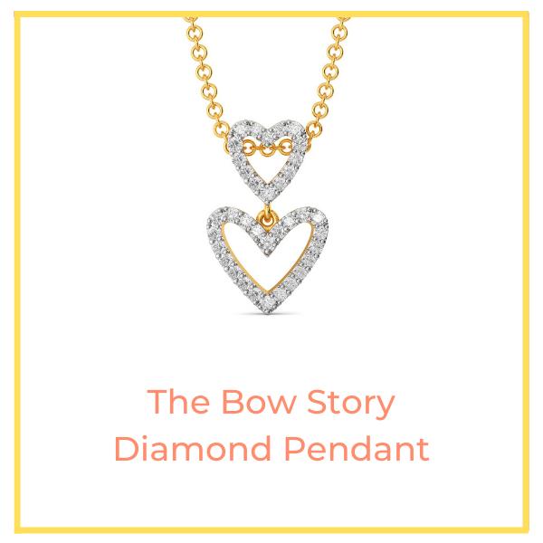 Bow Story Diamond Pendant.