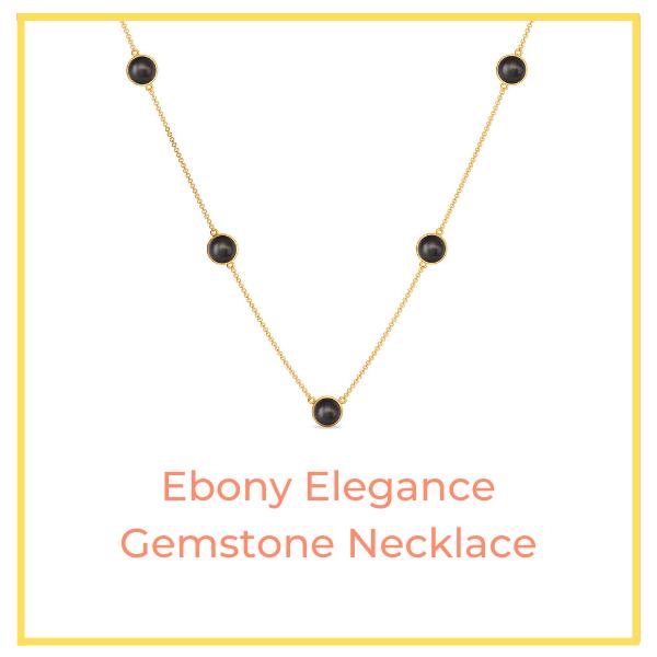 Ebony Elegance Gemstone Necklace.