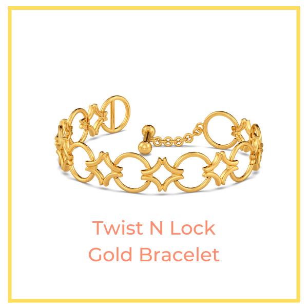 The Twist N Lock Gold Bracelet