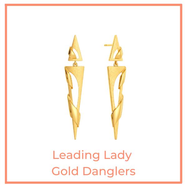 Leading Lady Gold Danglers