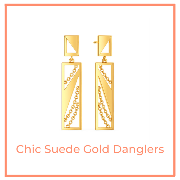 Chic Suede GoldDanglers