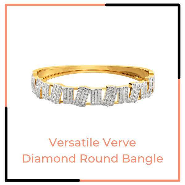 Versatile Verve Diamond Round Bangle