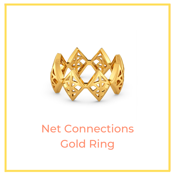 Net Connections Gold Ring.