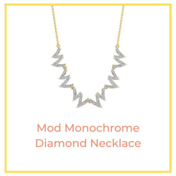 Mod Monochrome Diamond Necklace.