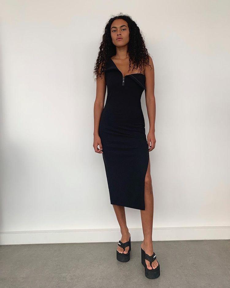 Black Dress With Slit